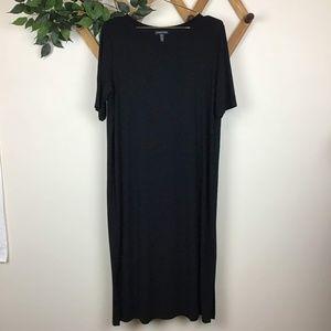 Eileen Fisher Casual Split Hem T-shirt Midi Dress